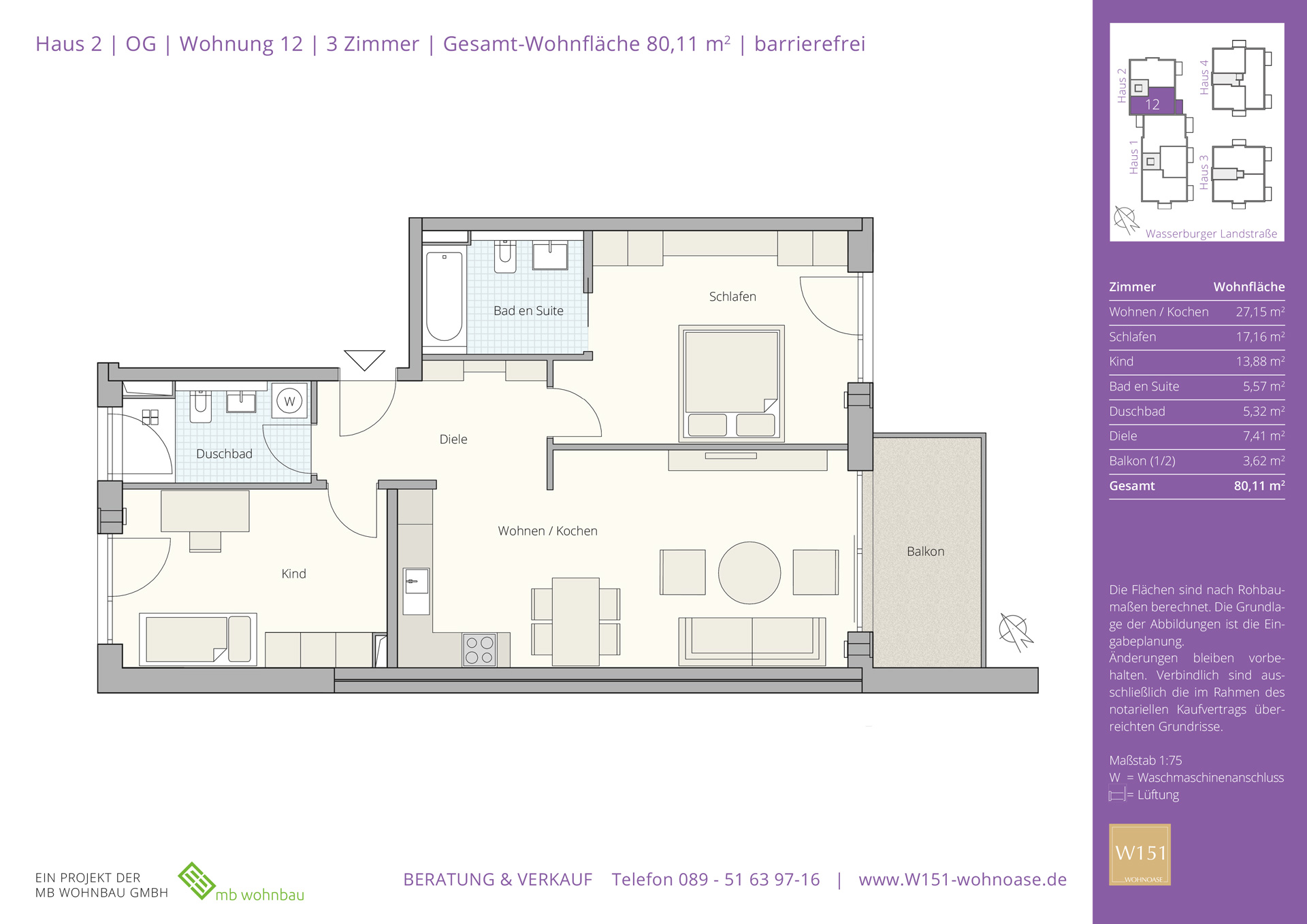 Grundrisse W151 Wohnoase Eigentumswohnungen In Munchen Trudering
